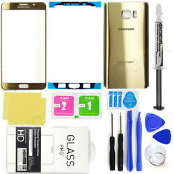 for Samsung Galaxy Note 5 OEM Gold Front Screen Glass Back Replacement Glass Kit $23.75
