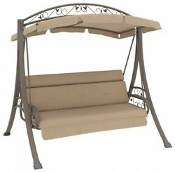 Patio Outdoor Swing Steel Frame Canopy Porch Seat Garden Furniture Backyard Park