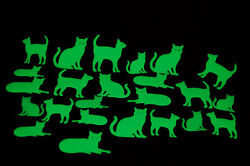 DirectGlow 24 Piece Glow in the Dark Cats Wall and Ceiling Decor $7.95