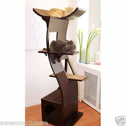 Best Cat Scratching Post Corner With Perch Lounger Towers Climber Espresso Tree