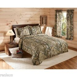 Camouflage Realtree Bedding Comforter Set w SHAMS Camo Twin Full Queen King