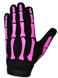 HiVis High Visibility Halloween Pink Ladies Skeleton Mechanics Gloves GBP 12.00