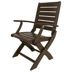 POLYWOOD Signature Mahogany Patio Folding Chair Outdoor Conversation Chair Sets