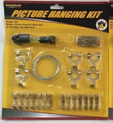 Picture Hanging Kit Hangers Wire Screw Eyes Nails Level NEW $5.95