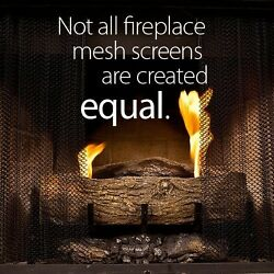 Fireplace Mesh Screen Curtain. 21 High (9-21). Includes 2 Panels Each 24 Wide.