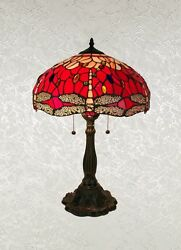 Beautiful Tiffany Style Red Dragonfly Table Lamp Shade 16quot; $120.00