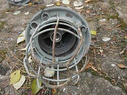 Industrial Light Ceiling Fixtures Explosion Proof Caged Lot x 6ps. Vintage USSR