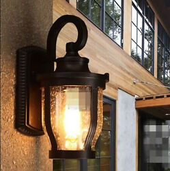 Raindrop Retro Industrial Wall Lamp Light Glass Home Decor Cafe Outdoor Ous