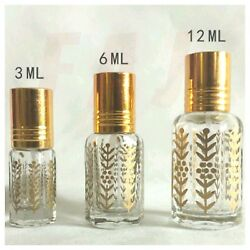 High Quality Empty Gold Design Perfume Oil Attar Bottles Stick On $21.95