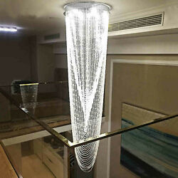 H90.5quot; x W23.6quot; Modern Contemporary Lamp Waterfall Raindrop Clear K9 Chandelier $888.00