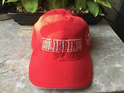 PHILIPPINES Adjustable Country Flag Embroidered Hat Cap Red $25.00
