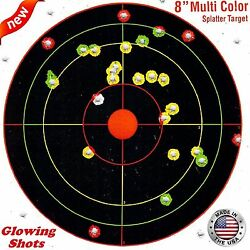 100 Pack SHOOTING TARGETS Glow Shot Reactive Splatter Gun Rifle 7