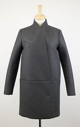 NWT BRUNELLO CUCINELLI Gray Cashmere Blend Full Length Coat Size 642 $4795