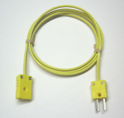 K Type Thermocouple extension cable wire with miniature mini connectors 3 15 ft $12.99