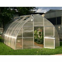 Hoklartherm RIGA XL 14.1 x 19.8-ft. Greenhouse Kit with Optional Foundation