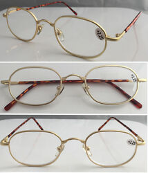 L74 3 Pairs Only £5.99 Great Value Quality Vintage Design Metal Reading Glasses $3.27