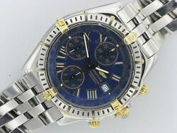BREITLING GENTS CROSSWIND STEEL & GOLD AUTOMATIC WATCH B13355 BOX & PAPERS 2002