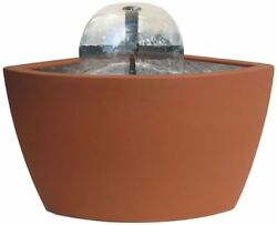 Hampton Contemporary Terra Cotta Patio Deck Pond Water Feature Kit With 35