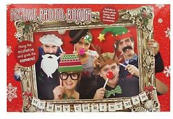 Photo Booth Props WIth Frame Christmas Theme Festive Holiday Party Fun $10.50
