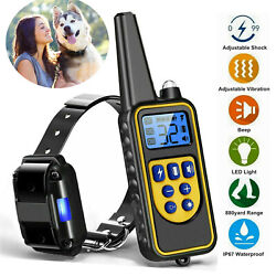 Dog Shock Collar With Remote Electric For Large Small Big Pet Training 880 Yards $26.45