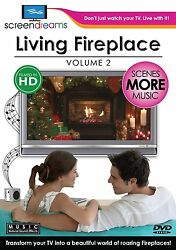 DVD - Documentary - Screen Dreams: Living Fireplace Vol. 2 - Scenes More Music