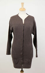 NWT BRUNELLO CUCINELLI Woman's Brown Cashmere Cardigan Sweater Size M $2780