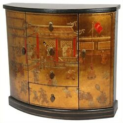 Oriental Furniture Village Market Accent Chest Chests in Gold
