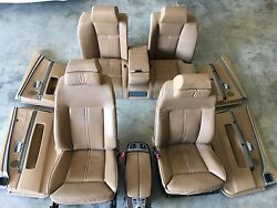 BMW E65 E66 750i SEATS DOOR PANELS  CONSOLES LEATHER HEATED AC BROWN OEM A+++