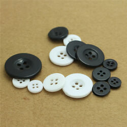 50pcs Round 4-holes Resin Buttons Scrapbooking Thirt  Sewing Craft Supplies