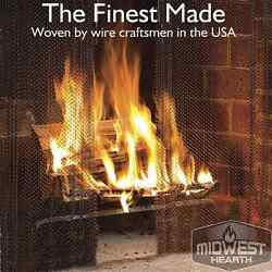Midwest Hearth Fireplace Screen Mesh Curtain. 2 Panels Each 24