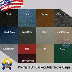 All Colors Upholstery Durable Un-Backed Automotive Carpet 40 Wide - By Yard LOT $12.75