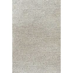 Nuloom 10' X 14' Hand Woven Ago Rug Area Rugs Natural Fibers Wool In Ivory