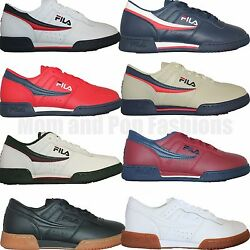 Mens Fila Original Fitness Classic Retro Casual Athletic Shoes White Navy Red $39.95