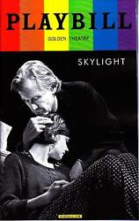 SKYLIGHT GAY PRIDE PLAYBILL NYC BROADWAY JUNE 2015 CAREY MULLIGAN BILL NIGHY