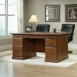 Sauder Orchard Hills Executive Desk in Milled Cherry $402.99