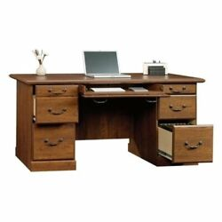 Bowery Hill Executive Desk in Milled Cherry $390.01