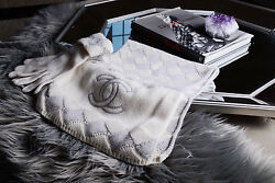 CHANEL CASHMERE SCARF AND GLOVES SET
