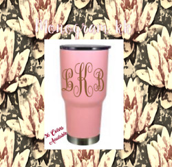 Monogram Vinyl Decal For Your Tumblers Ramblers Cups Sticker 2.5