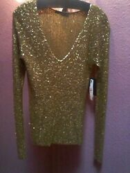 Donna Karan Sequin Encrusted Cashmere White House Office Party Red Carpet Ready