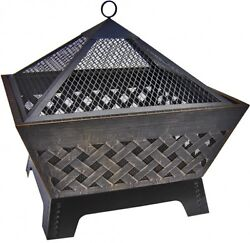 Landmann Patio Fire Pit Outdoor Fireplace Stainless Steel Contemporary Art Style