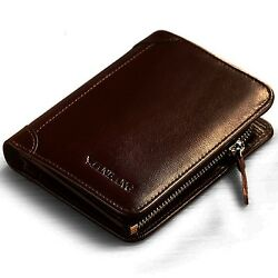 COFFEE Italian Leather Extra Capacity Bifold Wallet FOR MEN Card HOLDER