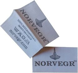1000 High Quality Damask Custom Artwork Center Fold Clothing Woven Label From US