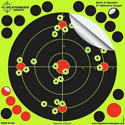 50 Pack Shooting Targets Rifle Gun Reactive Splatter Adhesive 8