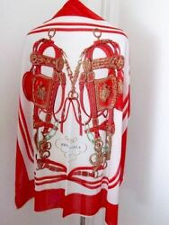HERMES Paris Smooth Carre Silk Jersey Scarf Shawl Luxury Women Red NWT Rare Auth