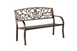 Blooming Patio Garden Bench for Outdoor Yard Backyard Porch Seat