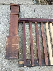 VTG ANTIQUE MAPLE Mission Arts & Crafts STAIR STAIRCASE RAILING Bannister Post
