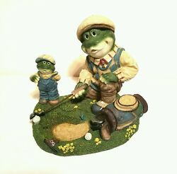 Frogs Golfing IndoorOutdoor Garden Decor