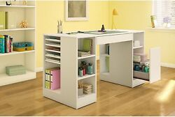 Pure White Craft Hobby Sewing Machine Table Storage Art Supplies O