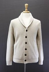 NWT$2575 Brunello Cucinelli Men Chunky 100% Cashmere Cable-Knit Cardigan 5040US
