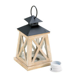 Colonial Heights Wood Candle Lantern